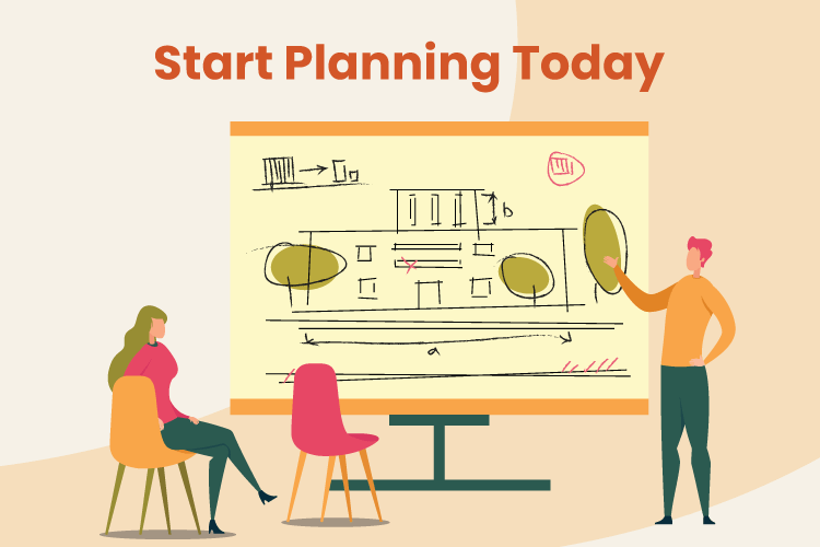 People make a plan in a conference room setting