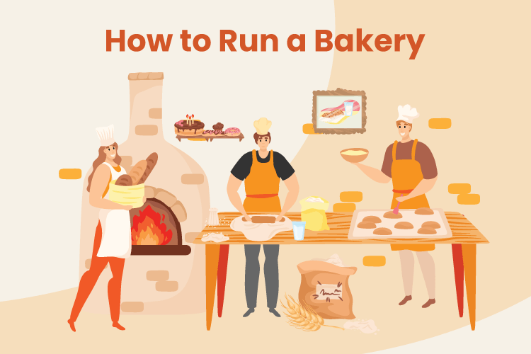 Group of bakers work together to run a successful bakery