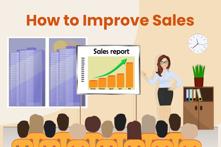 Person presents on ways to improve sales for small businesses