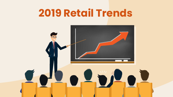 Person gives a talk about some of the trends in retail during 2019