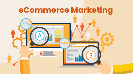 Illustration showing how eCommerce retail marketing works and how business owners can use it