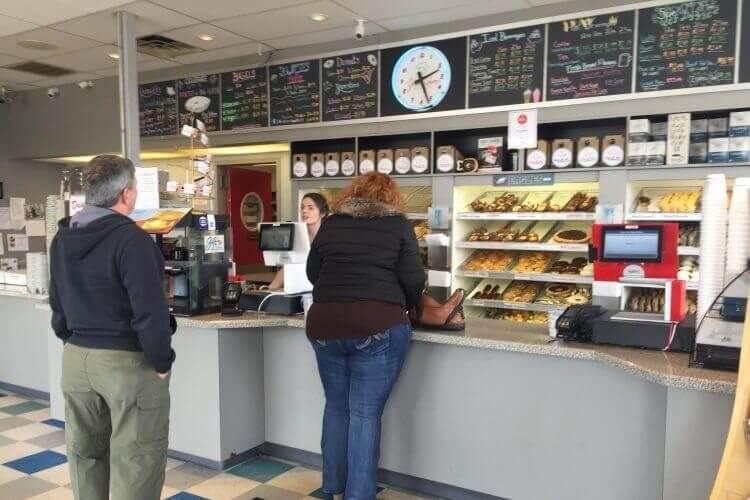 Regular customers in line at Yum Yum Bake Shop in Philadelphia