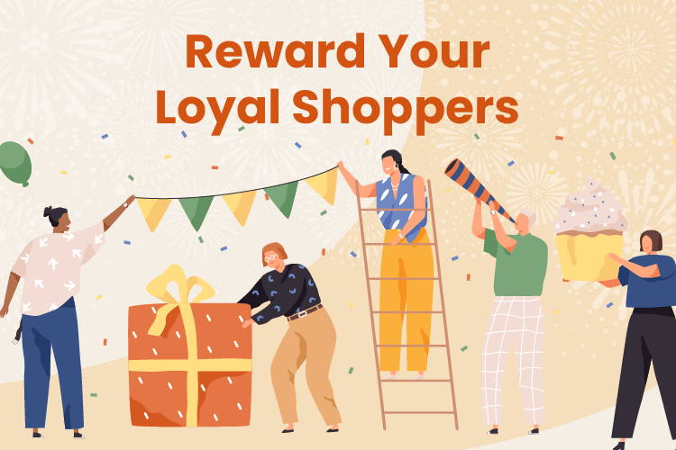 Business celebrates their regular customers as part of their retail loyalty program