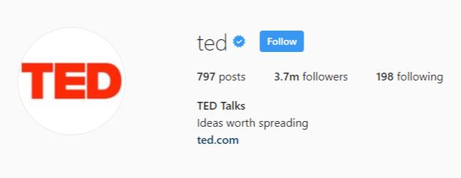 TED instagram minimalist