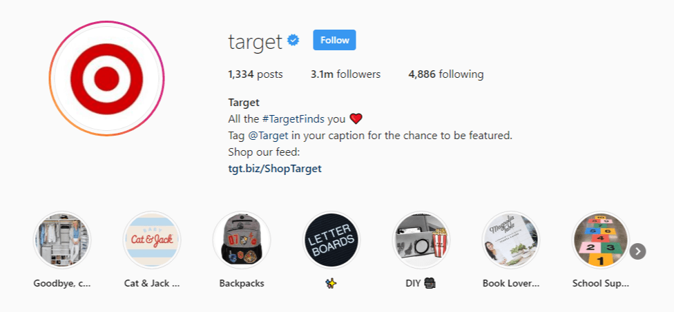 Target Instagram Products