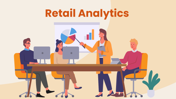 People conduct retail store analytics during a business meeting