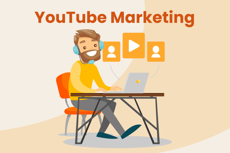 A man creates YouTube videos for his business channel