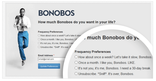 bonobos email segmenting