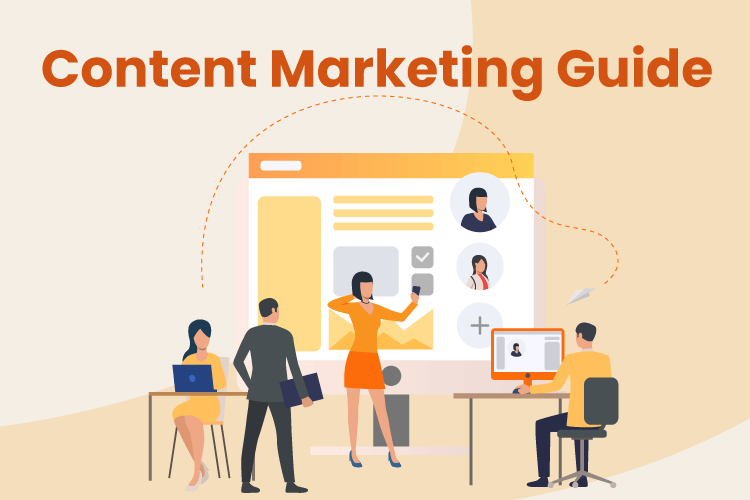 Group of people come up with retail content marketing strategy
