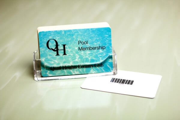 pool membership card