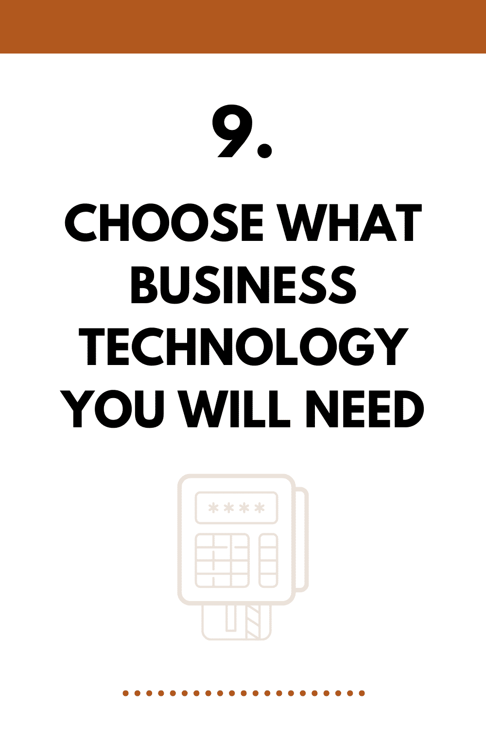 Choose what business technology you will need for your coffee shop