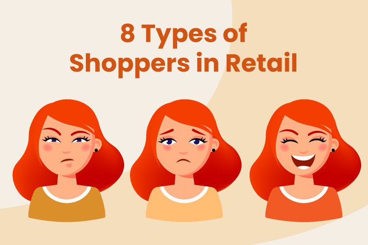 3 images of different types of shoppers
