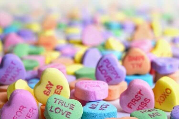 Valentine's Day promotion ideas with sweetheart candies