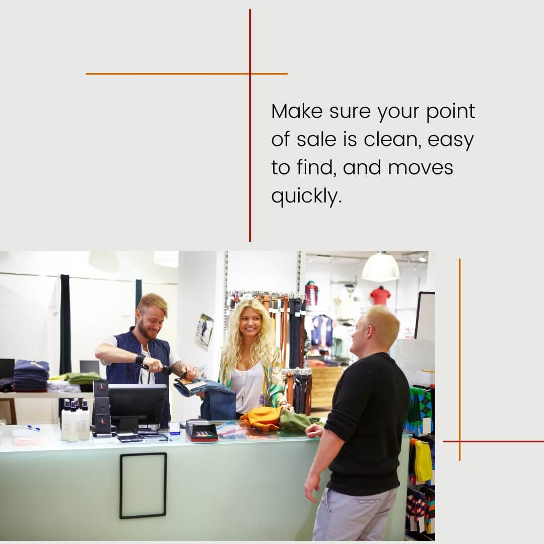 carousel graphic with image of a clean and easy to find point of sale area