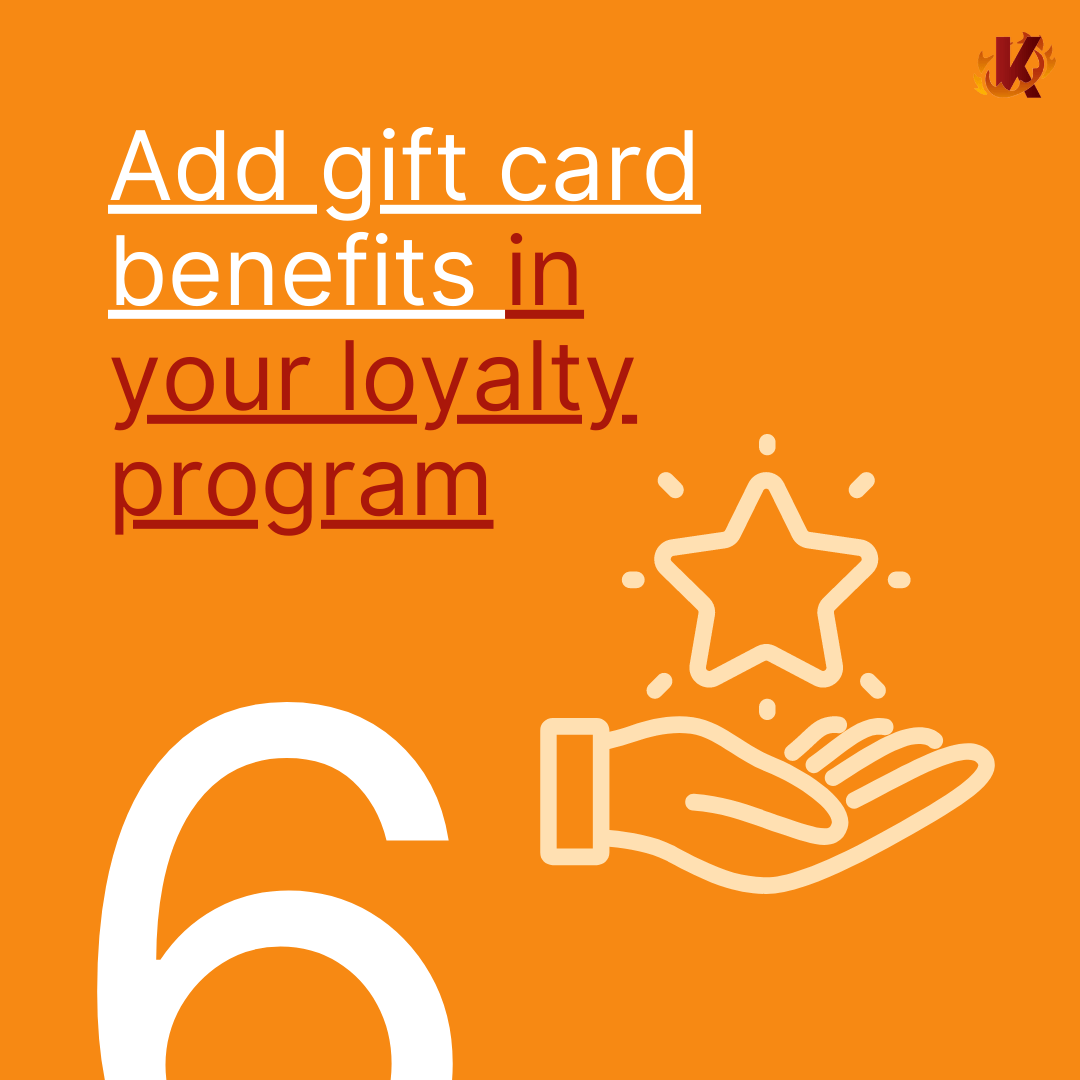 add gift card benefits to loyalty program image carousel with hand holding star