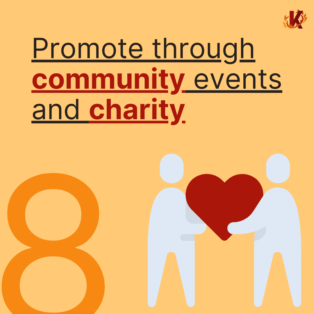 two person holding heart on promote through community events and charity image carousel