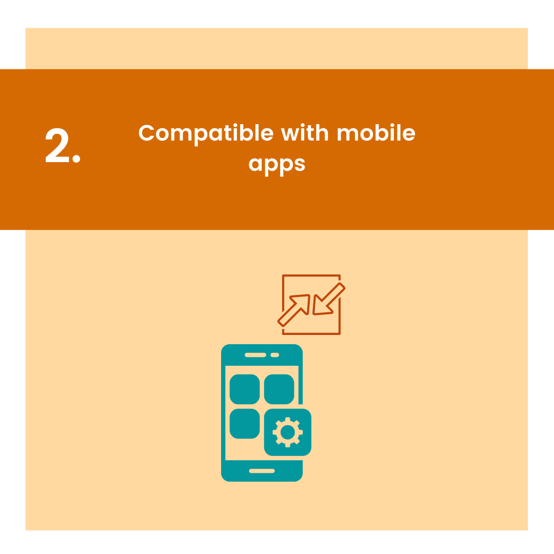 carousel graphic with icon for compatible with mobile apps as reason to get point-based loyalty program