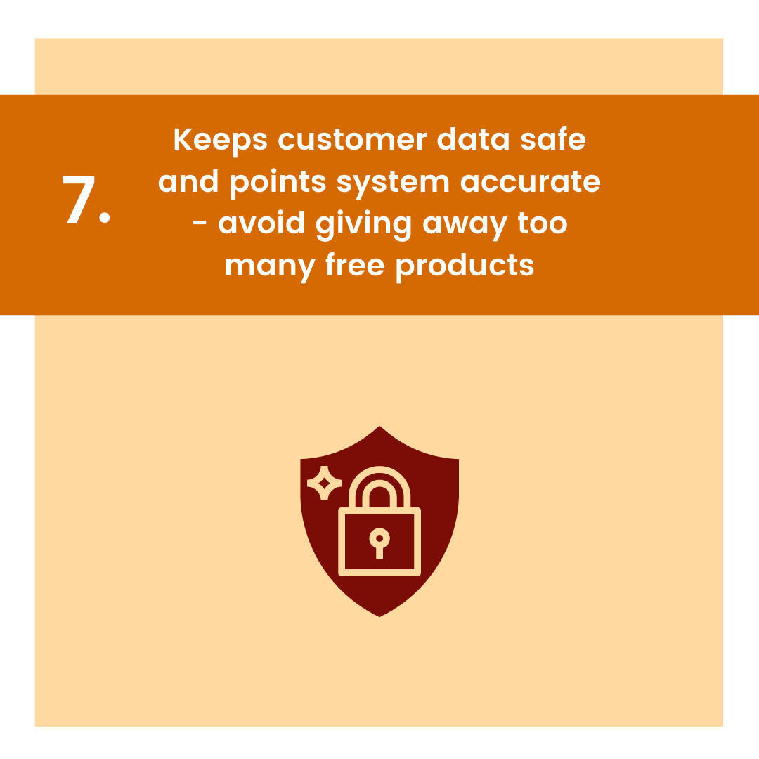carousel graphic for keeps customer data safe and points accurate as reason to get point-based loyalty program
