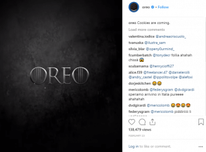 Oreo stays relevant with Instagram post about Game of Thrones