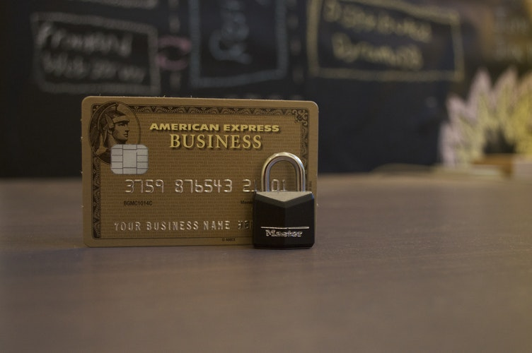 PCI Compliance for retail stores with an Amex card and a lock next to it