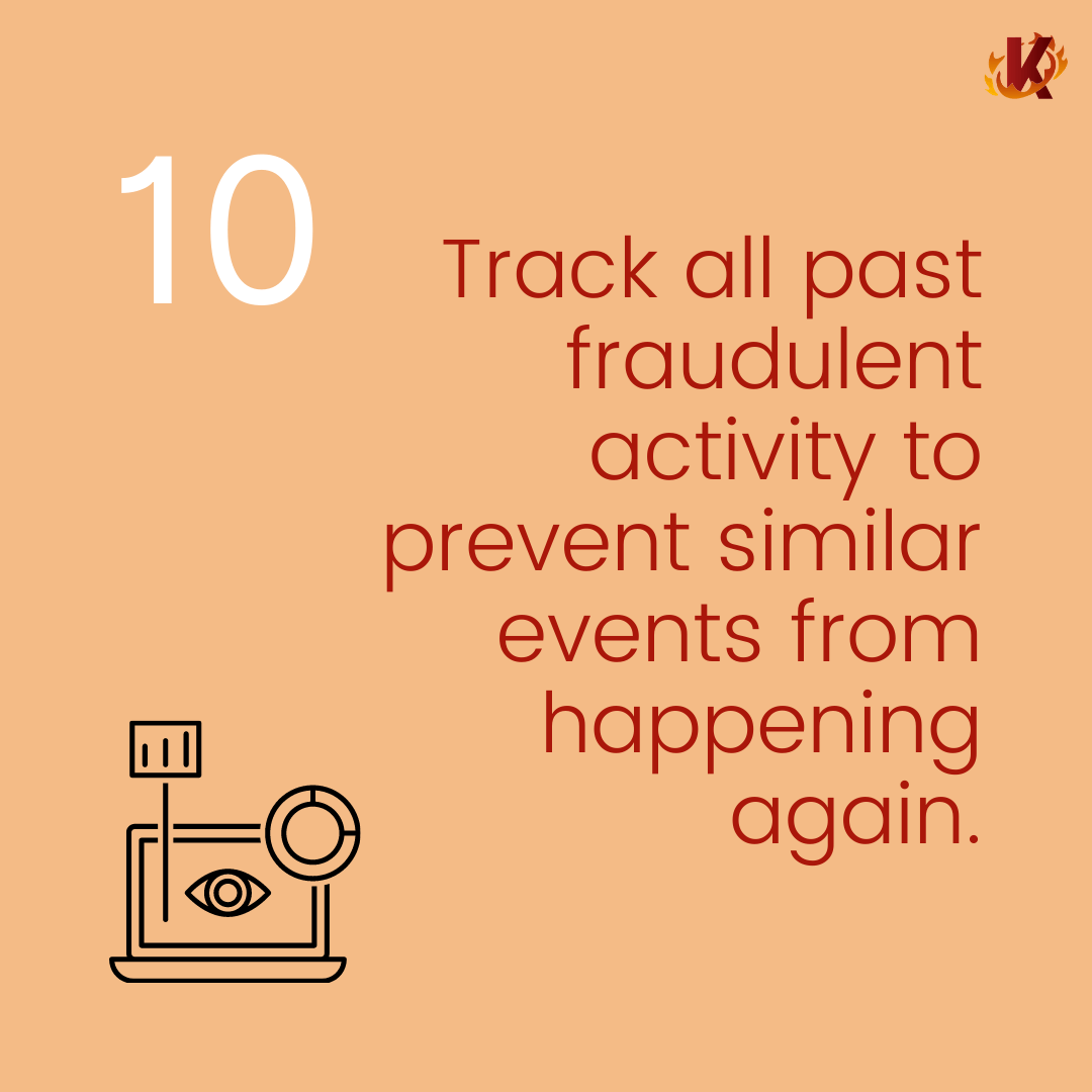 Track fraudulent activity carousel image