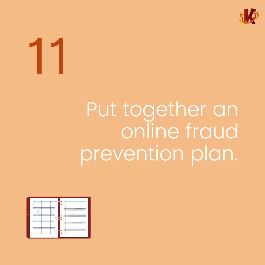 put together an online fraud prevention plan carousel image