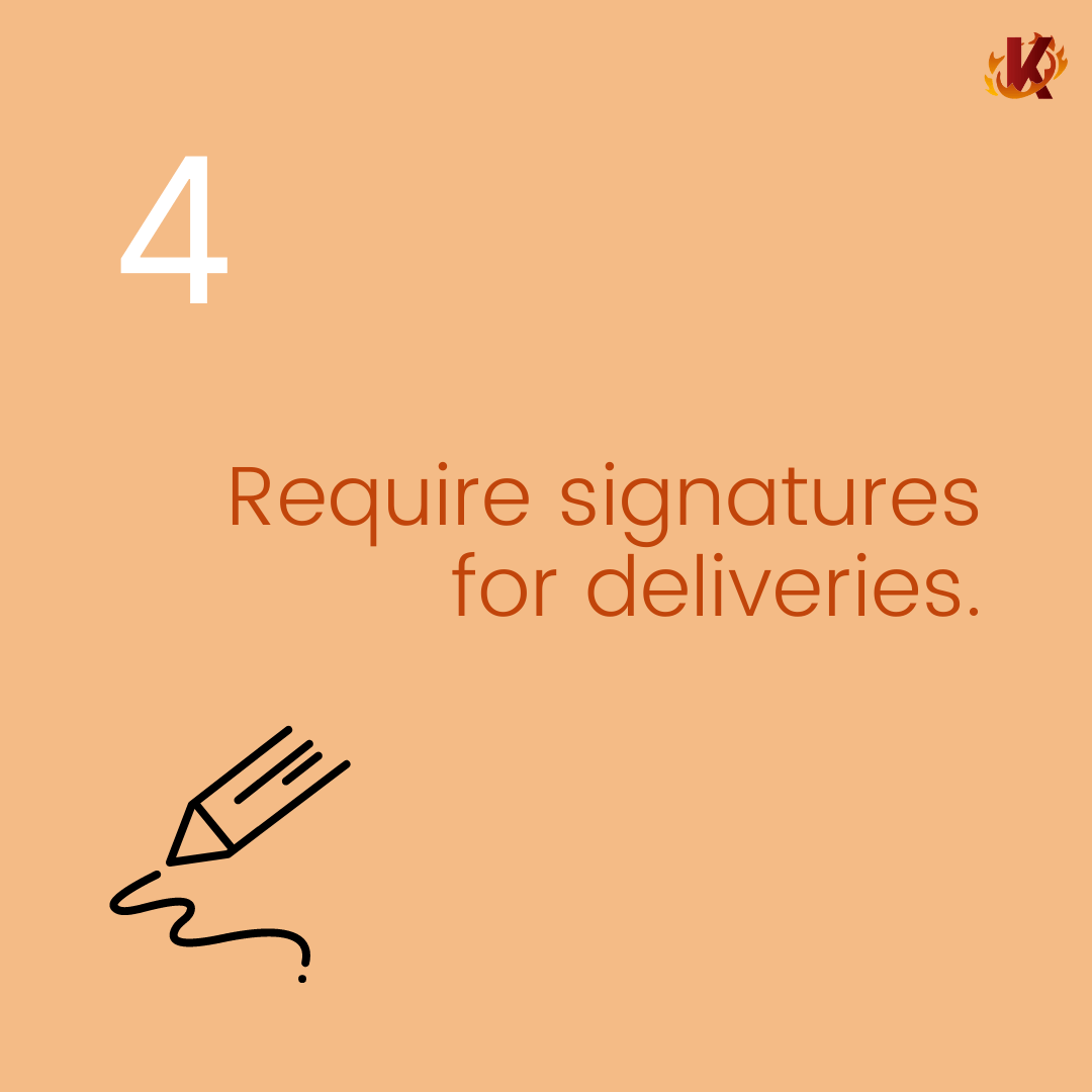 Require signatures for deliveries carousel image