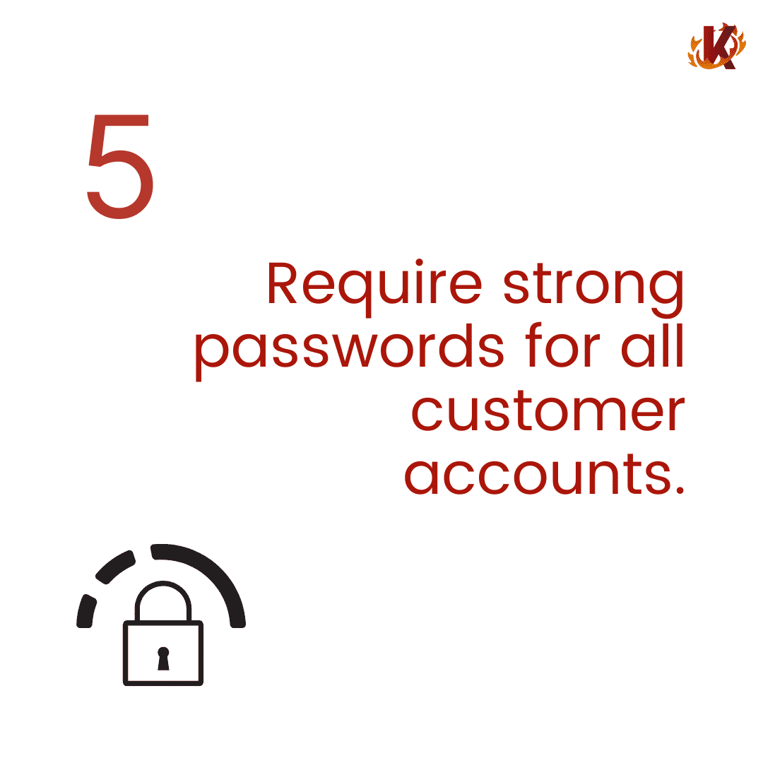 require strong passwords for customer accounts image carousel