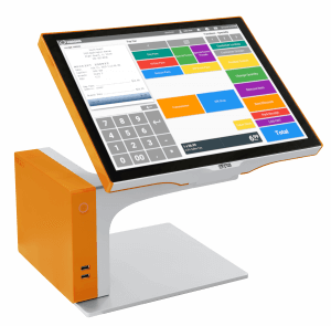 Complete POS system with cashier touchscreen menu