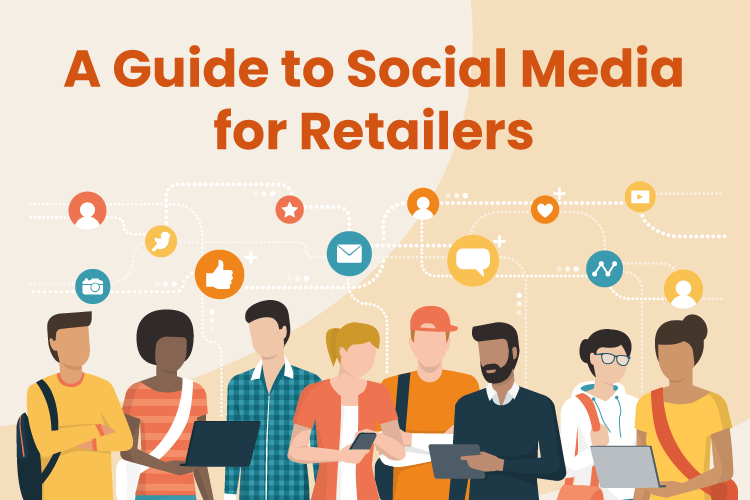 A group of retailers use social media to market their businesses