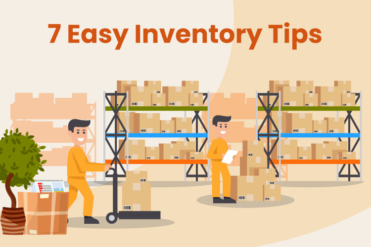 People organize retail warehouse inventory