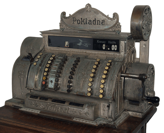 Old National Cash Register machine