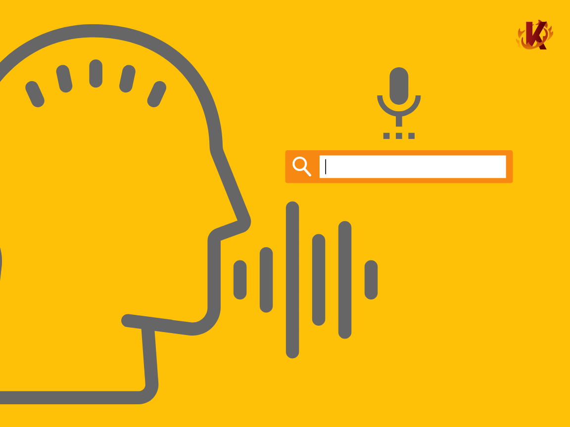 graphic representing voice search