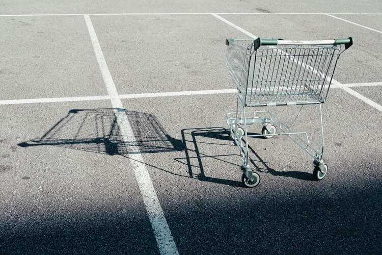 Reasons for abandoned carts and empty shopping cart