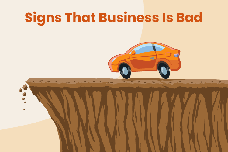 Illustration of a car heading over a cliff