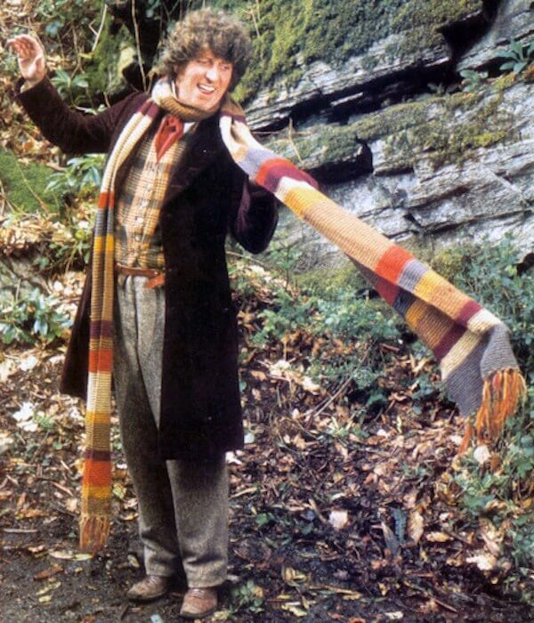 Dr. Who and his long colorful scarf