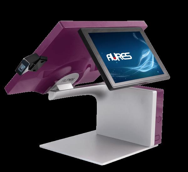 Customer-facing payment screen on POS desktop system