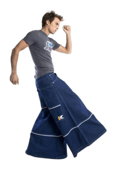 Baggy jeans that can be used for shoplifting