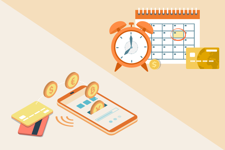 Illustration showing time management tips for retailers and saving money