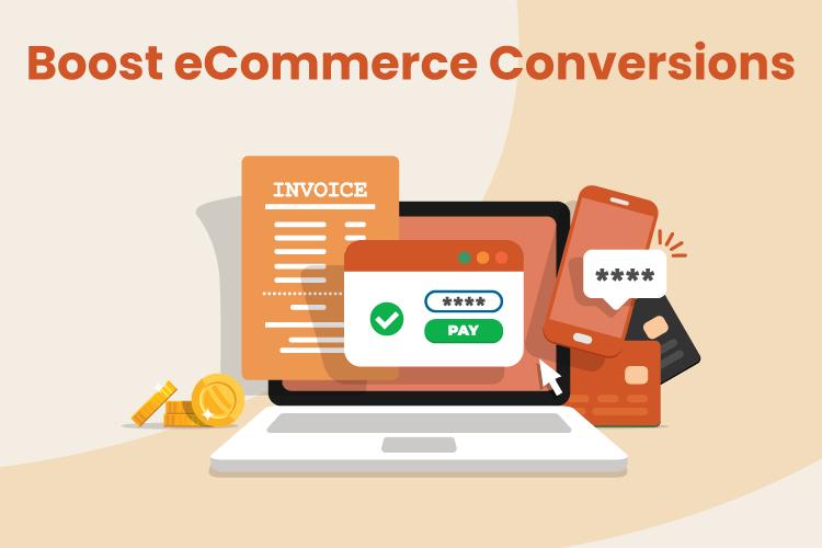 Illustration of website making an eCommerce sale online
