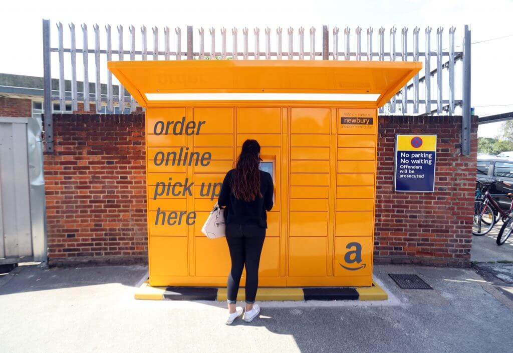 Retail parcel lockers from Amazon