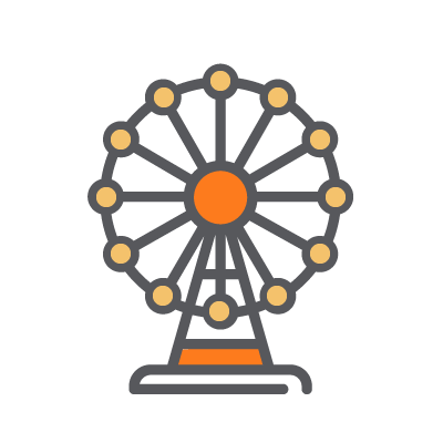 Theme park POS ferris wheel icon