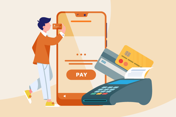Credit card payments with mobile devices, cards, and payment machines