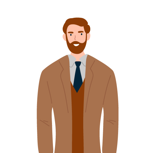 Illustration of business owner man
