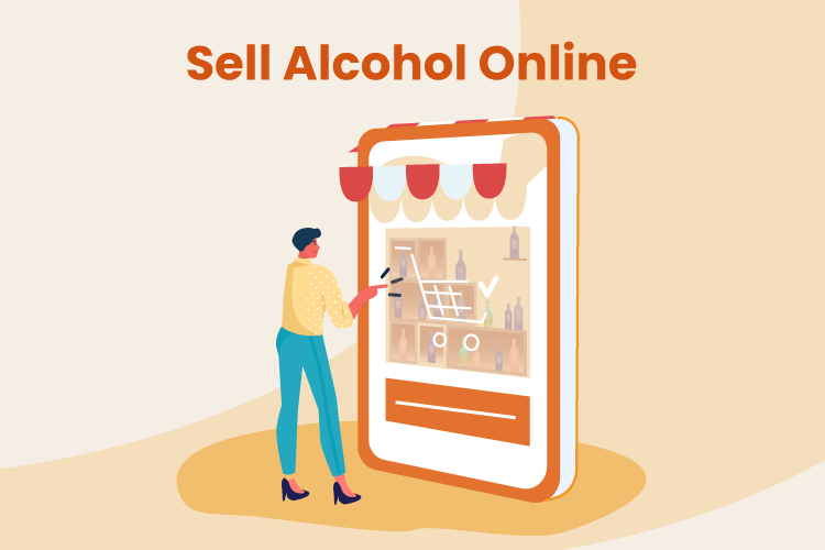 Man shops for alcohol on an eCommerce site