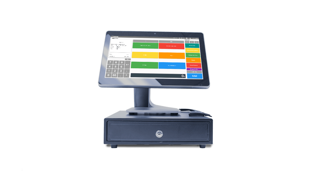 Golf course POS desktop system