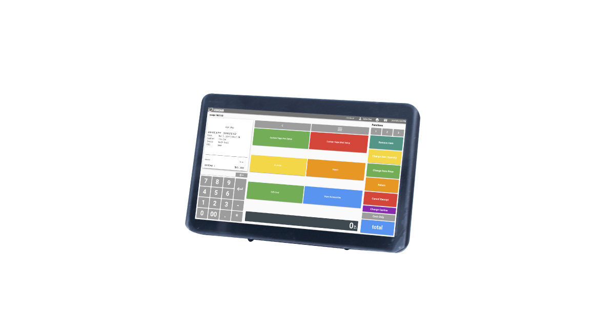 Mobile tablet POS with KORONA software