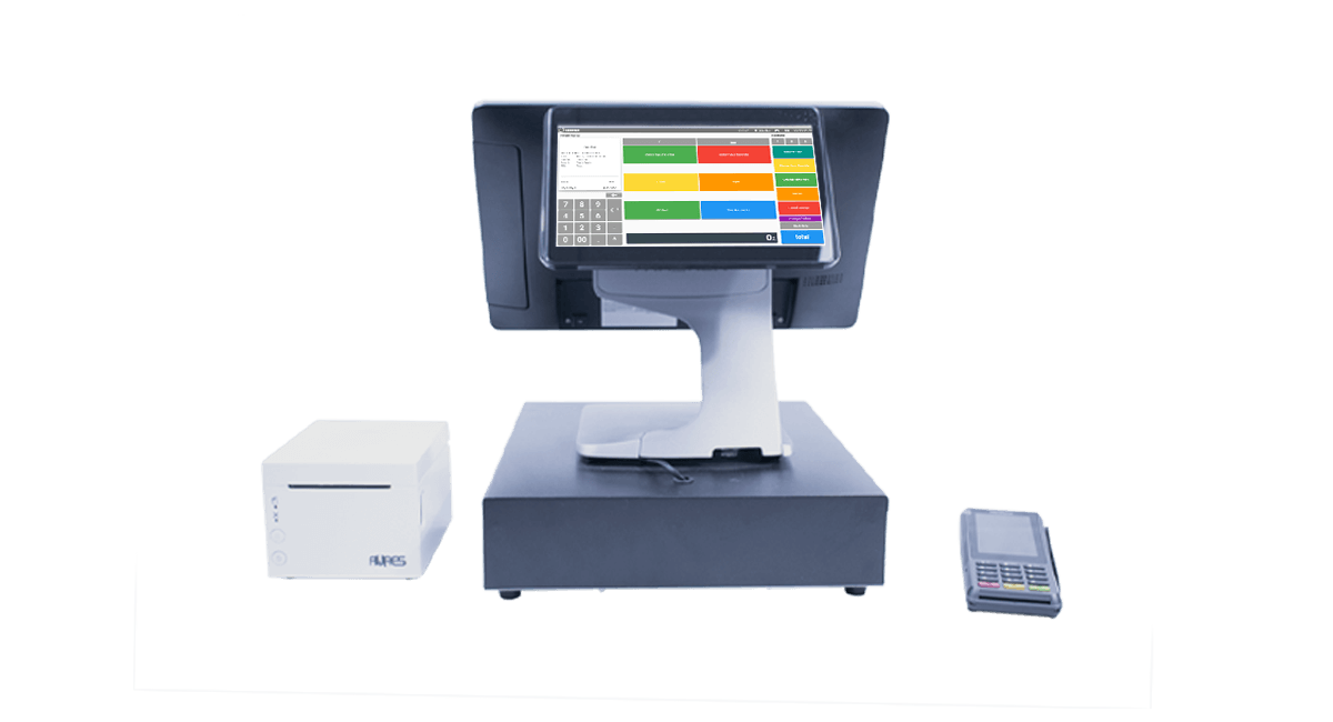 Point of sale system with POS payments machine
