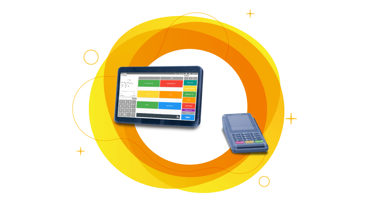 Tablet pos with wireless credit card machine