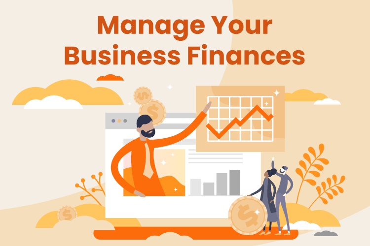 Small business owner plans small business finances with charts and graphs
